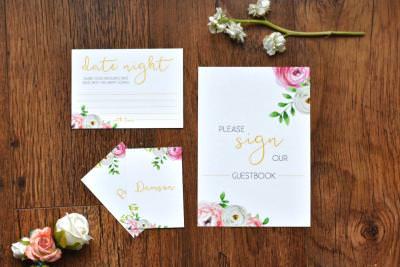 Bright and feminine floral wedding stationery