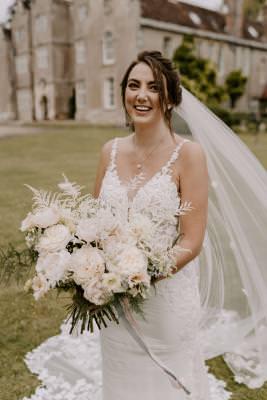 White and foliage wedding bouquet inspiration