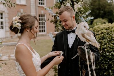 Barn owl ring bearer - wedding ring ideas