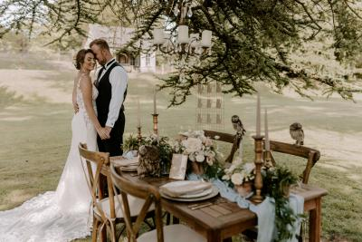 Wedding table styling inspiration + wedding owls