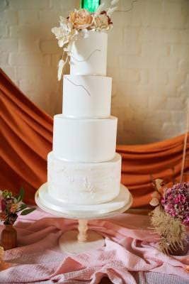 Elegant boho wedding cake Dorset