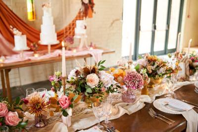 Boho wedding styling inspiration - Autumn hues