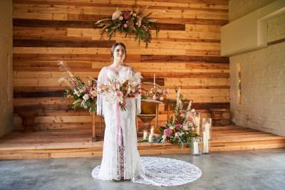 Boho bride flower cloud