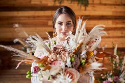 Fun Boho Wedding Flowers