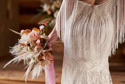 Wedding dress with boho fringing - Dakota, by Willowby