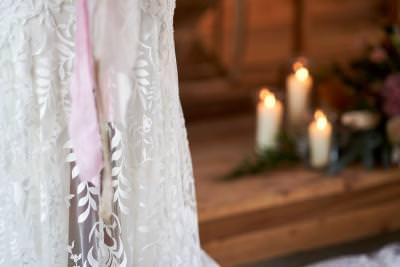 Dakota, by Willowby wedding dress lace detail