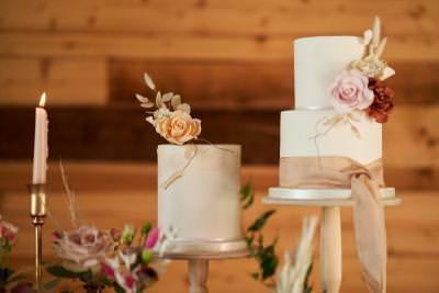 Mini wedding cake - luxury boho design by Lisa Notley Cake Design