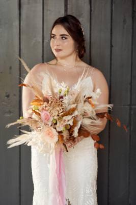 Boho luxe bridal bouquet