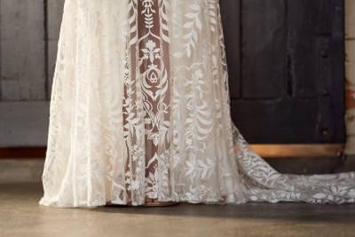 Dakota, by Willowby wedding dress split lace detail