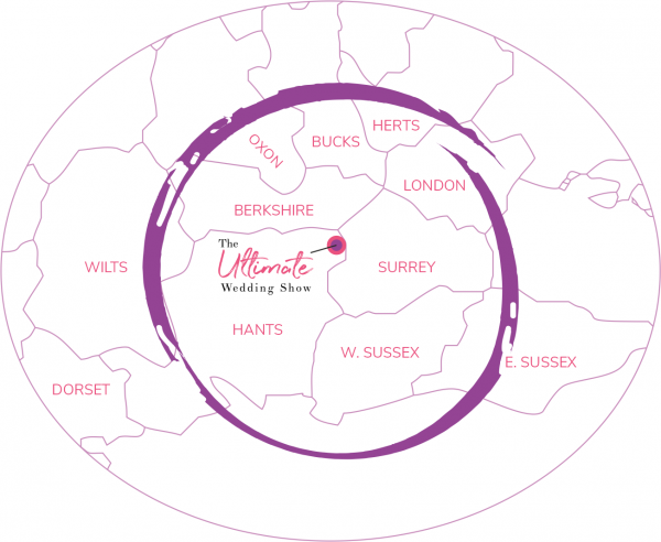 Areas Served by The Ultimate Wedding Show - Farnborough