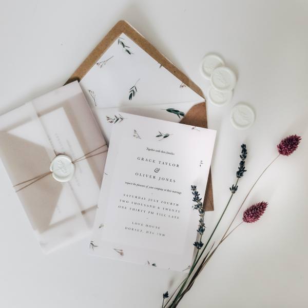 Luxury floral wedding invitations
