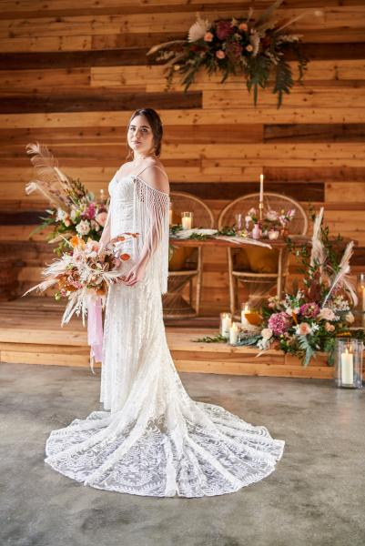 Dakota, by Willowby boho wedding dress