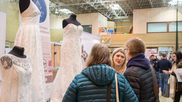 Meeting couples at our wedding fairs